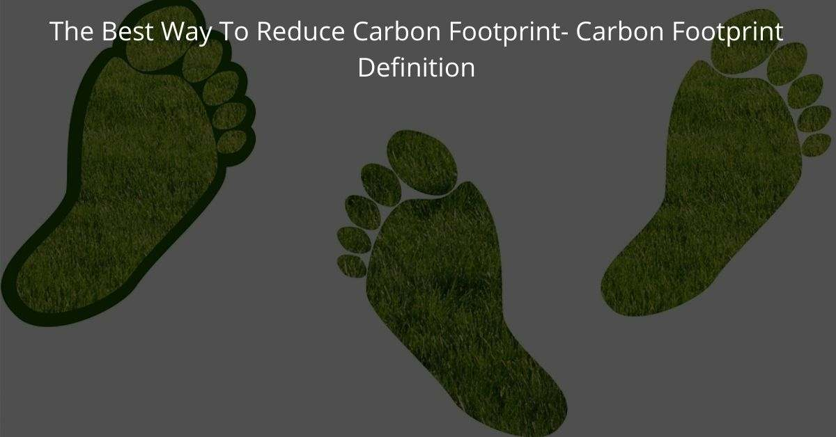 The Best Way To Reduce Carbon Footprint- Carbon Footprint Definition